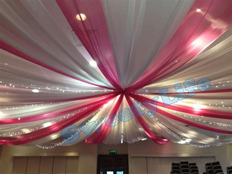 roof decoration wedding 12 pieces ceiling drape canopy drapery for
