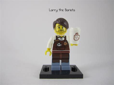 Lego Minifigures The Lego Larry The Barista plane