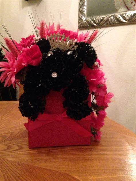 puppy flower arrangement