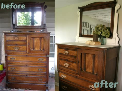 restaining bedroom furniture wood and white furniture tutorial refinished dresser