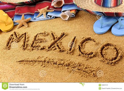 Tourism In Mexico Essay by Mexico Summer Writing Sign Stock Photo Image 50667570