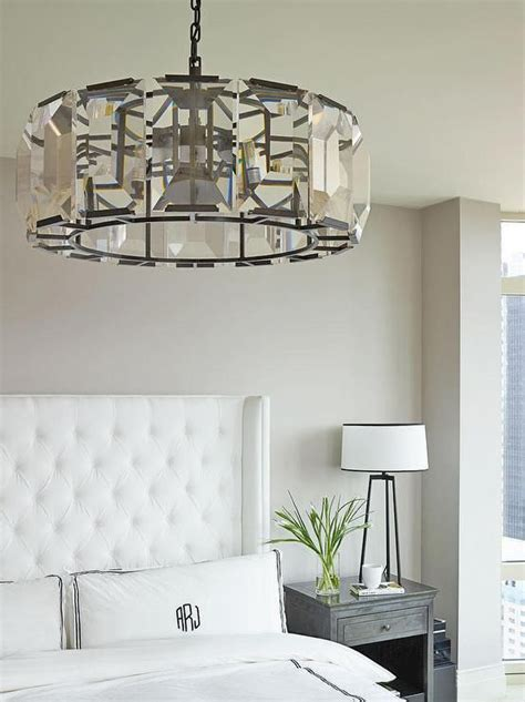 Large Bedroom Chandelier Chic Bedroom Features A Restoration Hardware