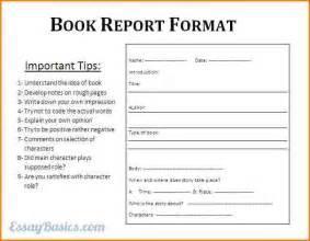 Book Report Guidelines 8 Book Report Format Wedding Spreadsheet
