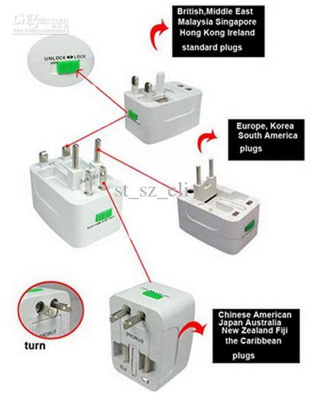 Promo Brand Steker Adaptor Universal All In One 1 multi travel adaptor adapter 4 in 1 universal worldwide use plugs sockets us eu uk au