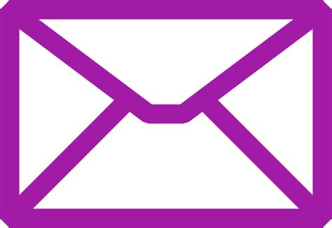 email clipart purple email icon clip at clker vector clip