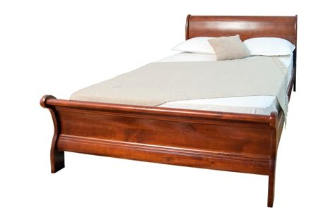 Scarlet Sleigh Queen Bed Frame In White Beds Online Timber Sydney Bed Frame