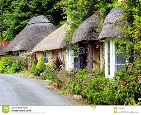cottages south thatched cottages south editorial stock image