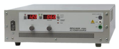 high voltage bench power supply new behlman 2 kva ac power source expands line of low cost