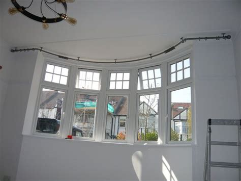 bay window curtain rails curved best 25 curved curtain pole ideas on pinterest