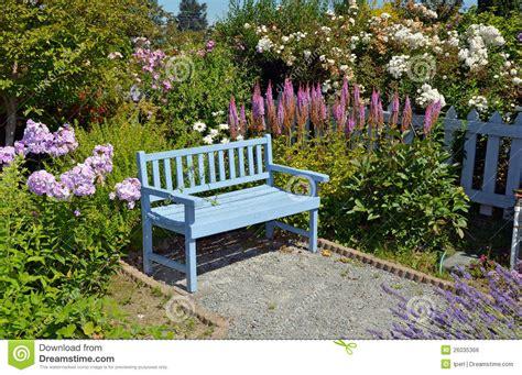 blue garden bench blue garden bench royalty free stock image image 26035366