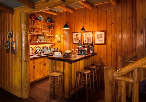 rustic home bar ideas bar de parede para sala de estar suspensos fotos e ideias