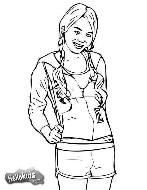 christmas coloring pages for highschool students hsm gabriella coloring pages hellokids com