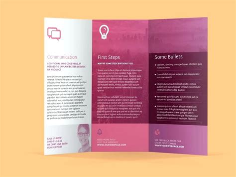 Template Sle Leaflets Template Information Flyer Template