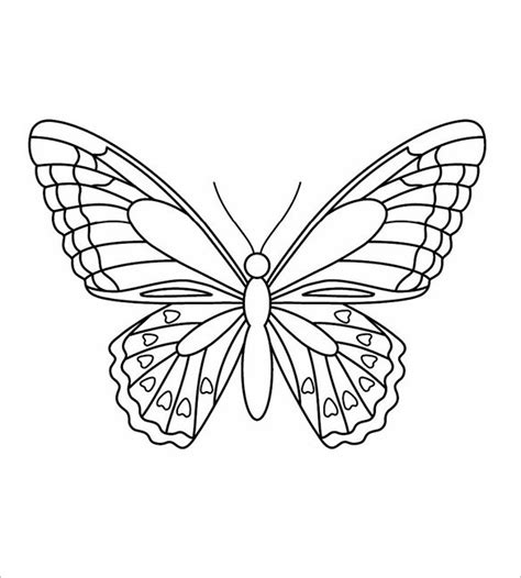 butterfly painting template 30 butterfly templates printable crafts colouring