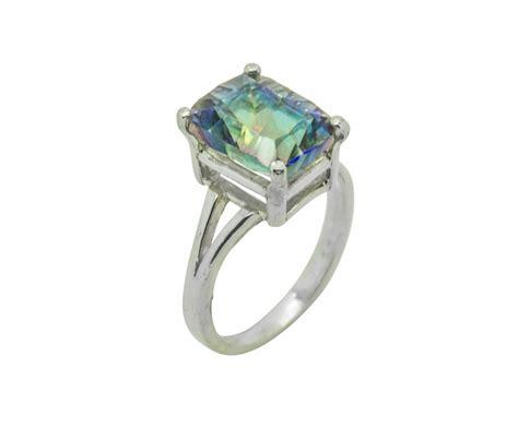 magic blue quartz emerald cut ring elizabeth everett