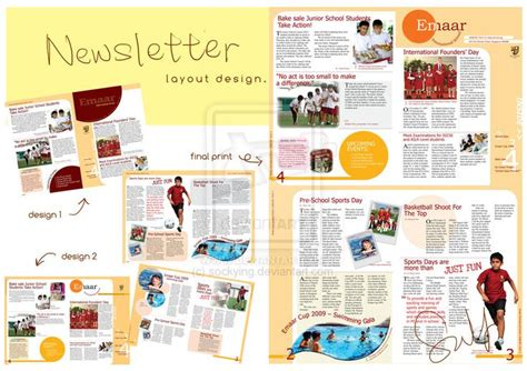 newsletter layout newsletter layout design by sockying on deviantart