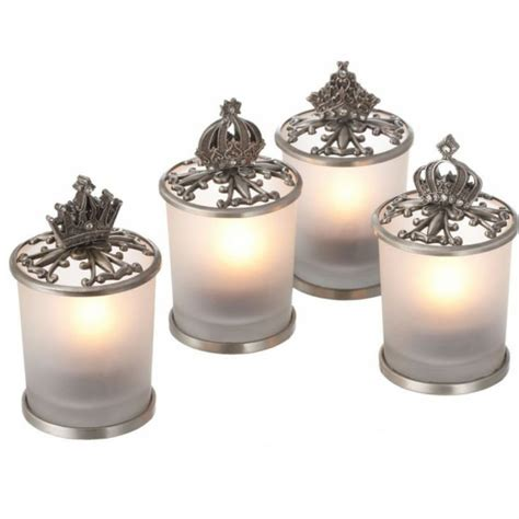 wedding favors cheap bulk antique pewter crown tealight candle holder 291504 pewter