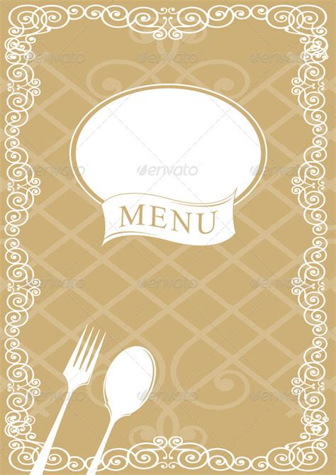 menu background template restaurant menu cover design background