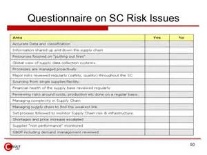audit risk assessment questionnaire template supply chain risk management