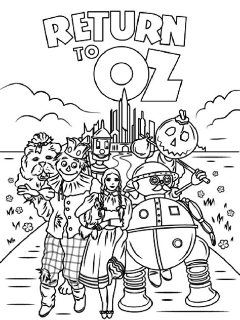coloring book pages wizard of oz wizard of oz coloring pages collections gianfreda net