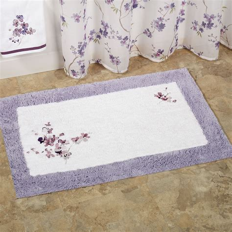 Designer Bathroom Rugs Designer Bathroom Rugs And Mats Floral White Purple Direct Divide
