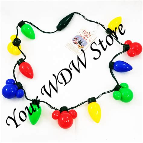 light necklace disney your wdw store disney light up necklace holidays