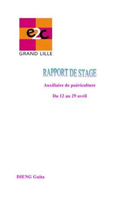 Modele Rapport De Stage Cap Enfance