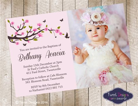 Girl Christening Invitations Floral Christening Invitation Floral Christening Invitation Template 2