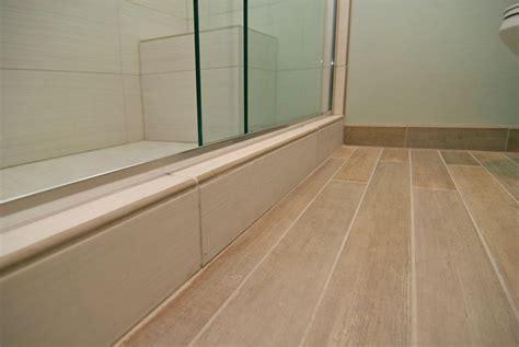 Bathroom Wood Plank Tile Floor   Home Design Ideas