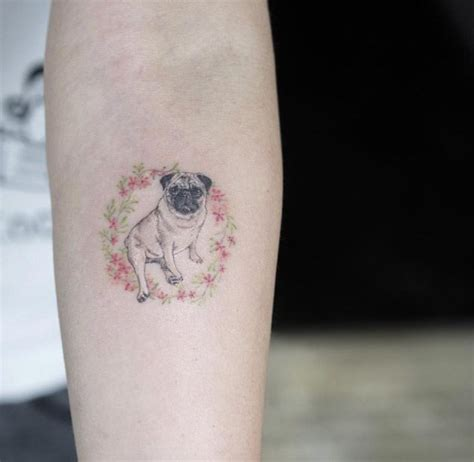 pug tattoos 28 miniature animal tattoos for pug and