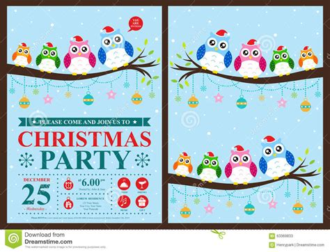 christmas design invitation card christmas invitation card stock vector image of list