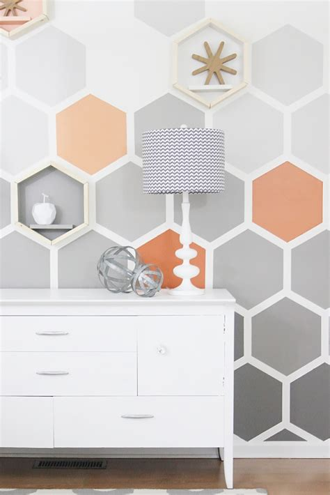 diy ombre hexagon wall thistlewood farm