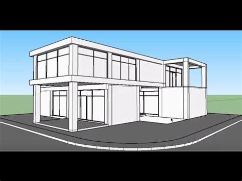 membuat rumah dengan sketchup tutorial sketchup membuat rumah minimalis kontemporer