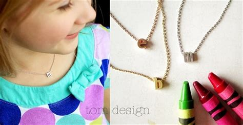 children s initial necklace by tom design