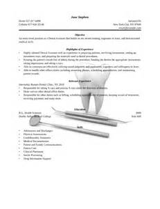 Entry Level Dental Assistant Resume by Dental Assistant Resume Sales Dental Lewesmr