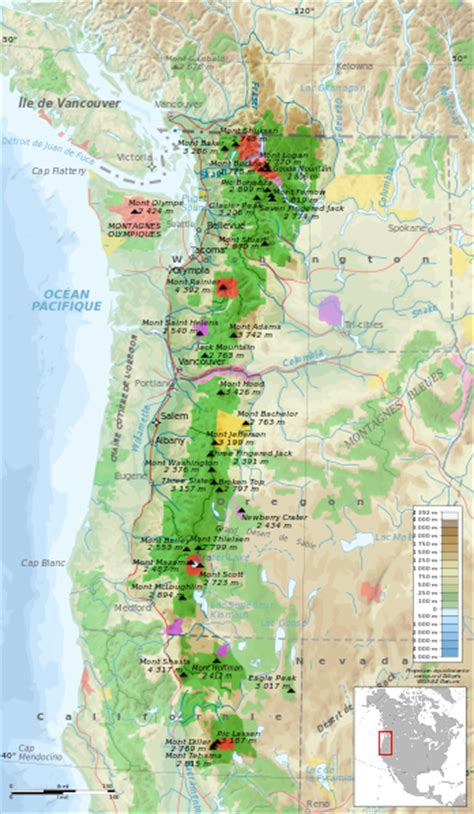 cascade mountains map file cascade range protected areas map fr svg