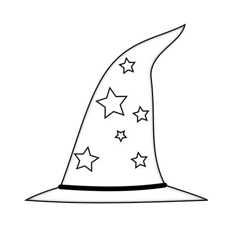 Wizard Hat Outline by Pirate Hat Clip Cliparts Co