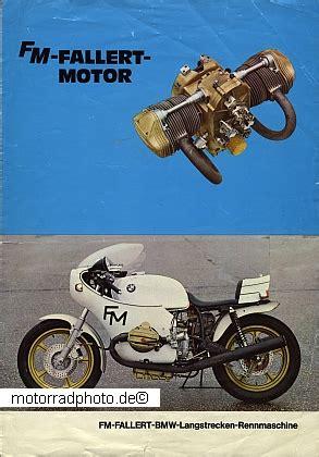 Motorrad Rennmaschinen Modelle by Motormobilia Bmw Motorrad Prospektblatt Fallert