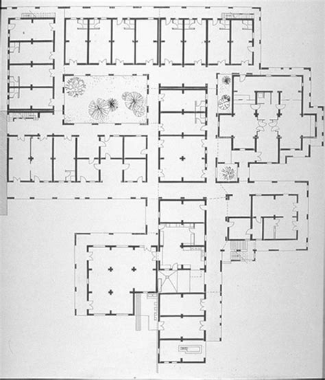ground floor plan drawing integrated center b w drawing ground floor