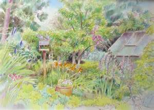 Drawing Of Garden pastels and pencils houses amp gardens sketches and