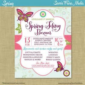 Community Event Flyer Template by Bazaar Fling Craft Market Expo Invitation Poster