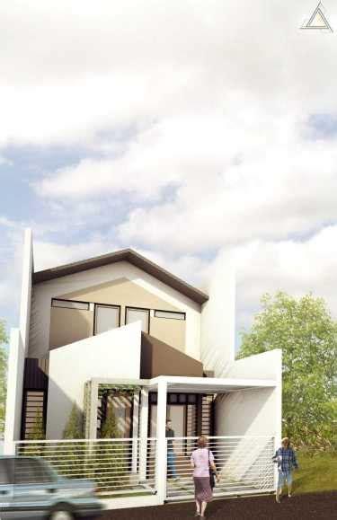 contoh denah rumah minimalis modern nyaman  sederhana arsitag