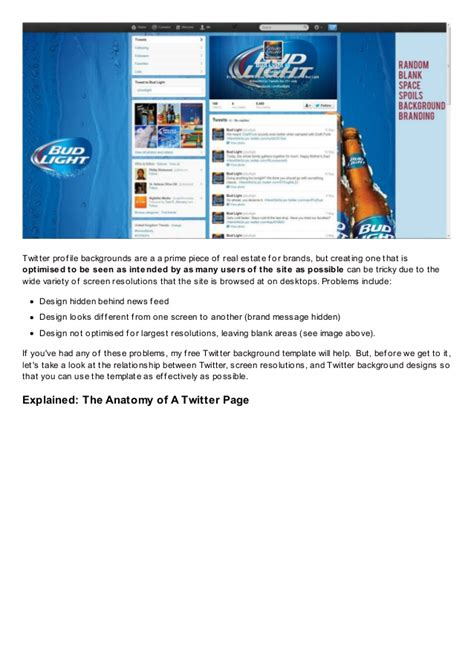 twitter layout problem free twitter background template psd 2013 1920 x 1200