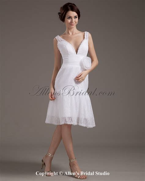 Knee Length Wedding Dresses by Knee Length Lace Wedding Dress