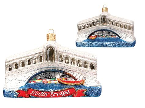 rialto bridge venice italy polish glass christmas ornament