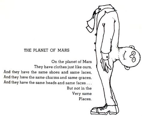 the small space where the sidewalk ends memories of my childhood books the planet of mars shel silverstein mars