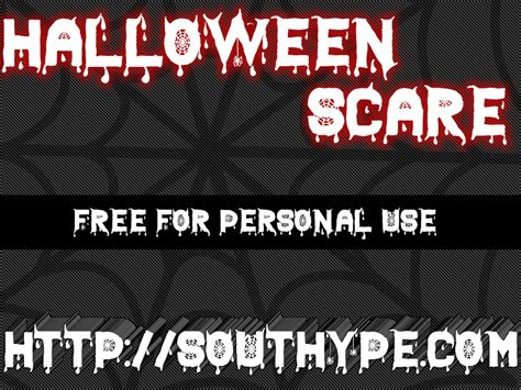 dafont halloween halloween scare st font dafont com
