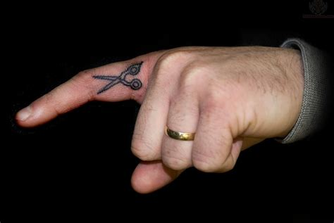 hand and finger tattoos scissor images designs