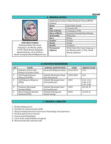 contoh resume in