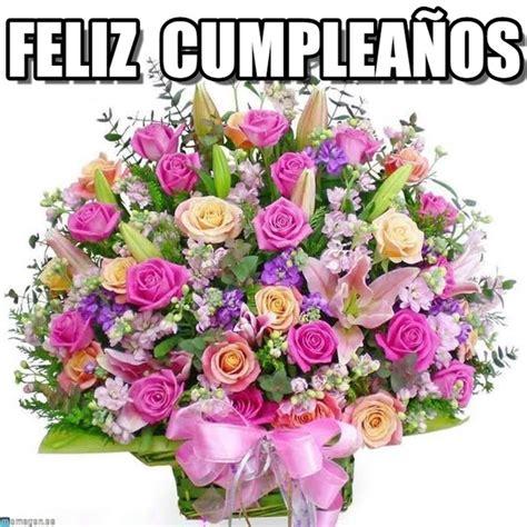 imagenes bonitas de cumpleaños con flores feliz cumplea 241 os flores meme en memegen